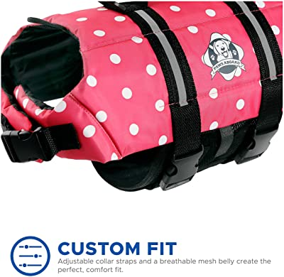 Paws Aboard Dog Life Jacket, Neoprene Dog Life Vest for Swimming and Boating