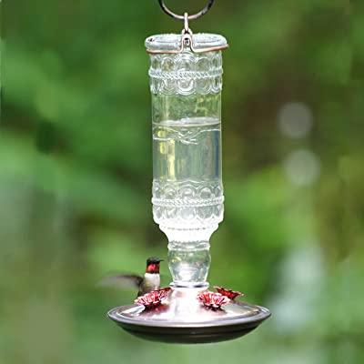 Perky-Pet Antique Bottle 10-Ounce Glass Hummingbird Feeder