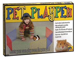 Prevue Pet Products Multi-Color Small Animal Playpen