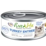 Pure Vita Grain Free 96% Real Turkey Entree Canned Cat Food