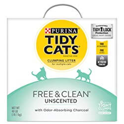 Tidy Cats Free & Clean Unscented Clumping Clay Cat Litter