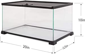 REPTI ZOO 10 Gallon Reptile Tank Glass Natural Cages