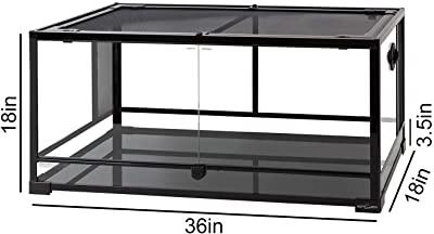 REPTI ZOO Reptile Glass Terrarium Tank Double Hinge Door