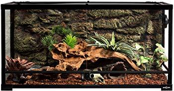REPTI ZOO Reptile Glass Terrarium Tank