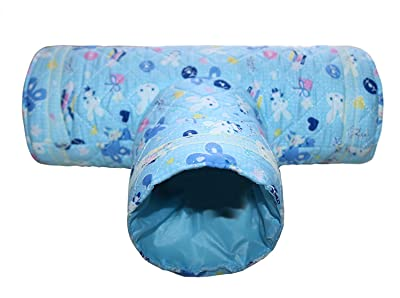 RYPET Small Animal Play Tunnel, Collapsible Pet Toy