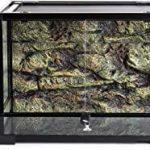 REPTI ZOO 34 Gallon Large Reptile Glass Terrarium Tank