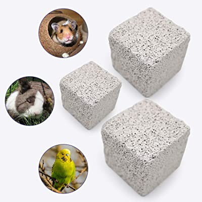 S-Mechanic 9Pcs Hamster Chew Toy Lava Square Stone Teeth Grinding Toys