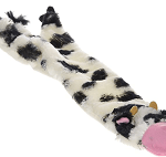 Ethical Pet Skinneeez Crinklers Cow Stuffing-Free Squeaky Plush Dog Toy