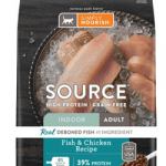 Simply Nourish Source Fish & Chicken Recipe High-Protein Grain-Free Adult Indoor Dry Cat Food
