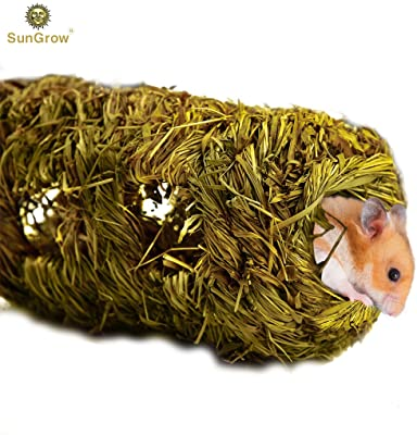 SunGrow Hand-Woven Seagrass Tunnel Toy