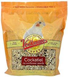 Volkman Seed Avian Science Super Cockatiel No Sunflower