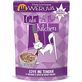 Weruva Cats in the Kitchen Love Me Tender Chicken & Duck Recipe Grain-Free Cat Food Pouches