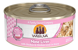 Weruva Nine Liver with Chicken & Chicken Liver in Gravy Grain-Free Canned Cat Food
