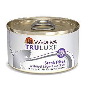 Weruva Truluxe Steak Frites with Beef & Pumpkin in Gravy Grain-Free Canned Cat Food