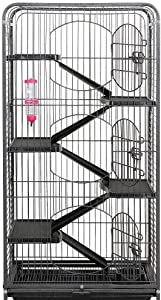 """YAHEETECH 52"""" 6 Level Metal Critter Cage"""