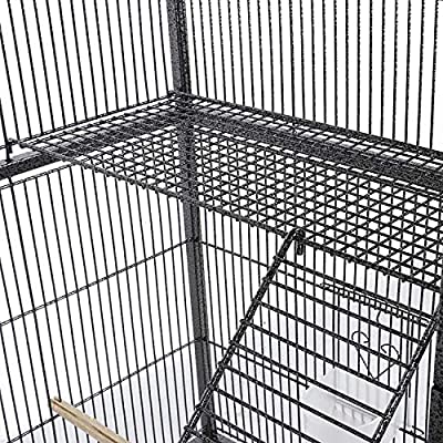 YAHEETECH 69-Inch Extra Large Wrought Iron 3 Levels Small Animal Cage