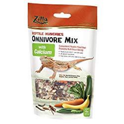 Zilla Reptile Food Munchies Omnivore Mix With Calcium
