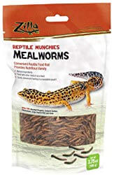 Zilla Reptile Munchies Mealworms Lizard Food