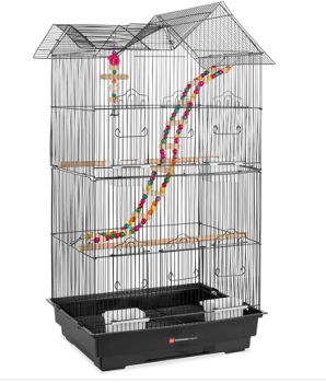Best Choice Products Indoor Outdoor Iron Birdcage w/ Removable Tray