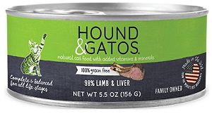Hound and Gatos Lamb & Liver Canned Cat Food