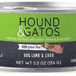 Hound & Gatos Wet Cat Food, 98% Lamb & Liver