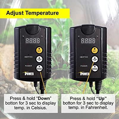 iPower GLHTMTCONTROL 40-108 Degrees Fahrenheit Digital Heat Mat Thermostat