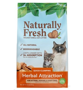 Naturally Fresh Herbal Attraction Scented Clumping Walnut Cat Litter