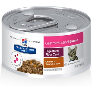 Hill's Prescription Diet Gastrointestinal Biome Digestive/Fiber Care Chicken & Vegetable Stew Canned Cat Food