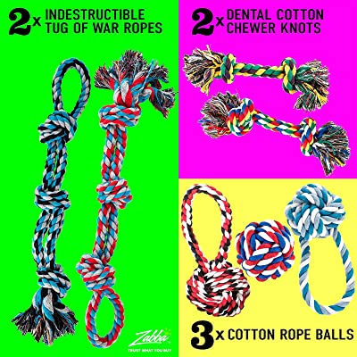 AMZpets Dog Toys for Aggressive Chewers