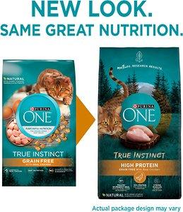 Purina ONE True Instinct Natural Real Chicken Plus Vitamins & Minerals High Protein Grain-Free Dry Cat Food