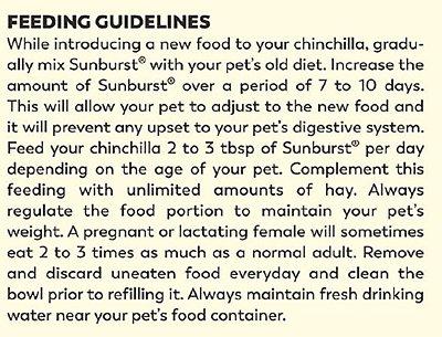 Higgins Sunburst Gourmet Blend Chinchilla Food