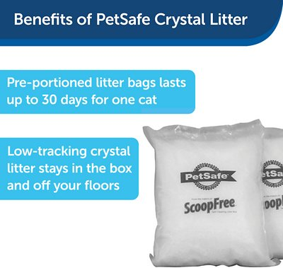 ScoopFree Sensitive Unscented Non-Clumping Crystal Cat Litter