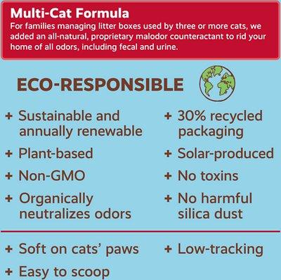 Naturally Fresh Multi-Cat Unscented Clumping Walnut Cat Litter