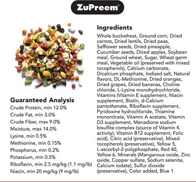 ZuPreem Pure Fun Enriching Variety Medium Bird Food