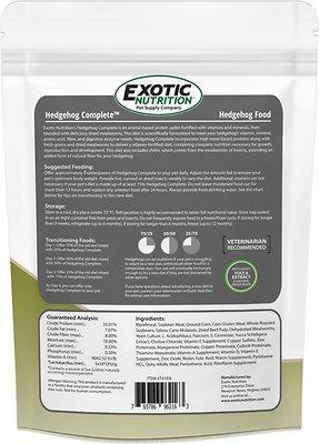 Exotic Nutrition Hedgehog Complete Hedgehog Food