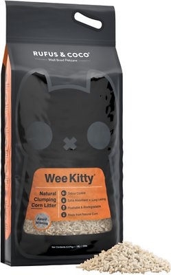 Rufus & Coco Wee Kitty Unscented Clumping Corn Cat Litter