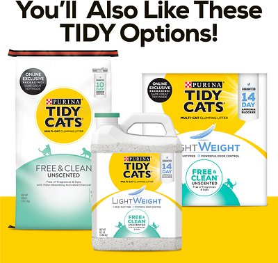 Tidy Cats Free & Clean Lightweight Unscented Clumping Clay Cat Litter