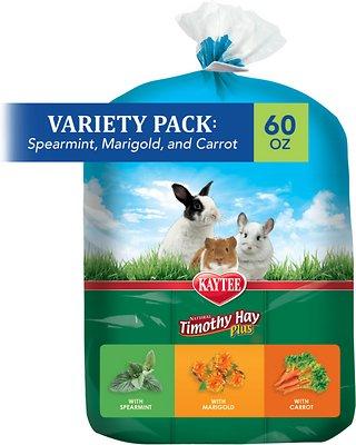 Kaytee Timothy Hay Plus Variety Pack Small Animal Food