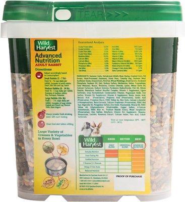 Wild Harvest Advanced Nutrition Adult Rabbit Food