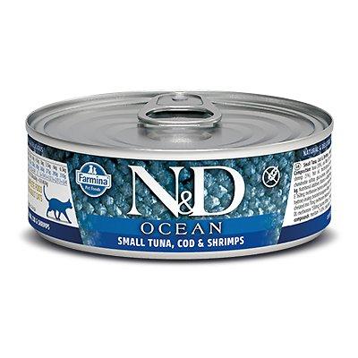 Farmina Natural & Delicious Ocean Feline Small Tuna, Cod & Shrimp Canned Cat Food