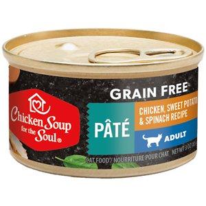 Chicken Soup for the Soul Grain-Free Chicken, Sweet Potato & Spinach Recipe Minced in Gravy