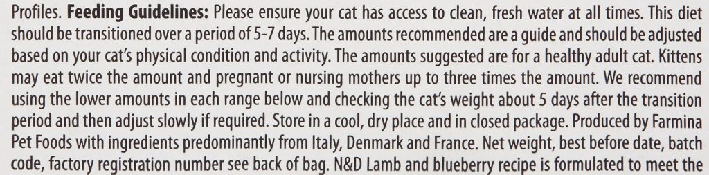 Farmina Natural & Delicious Prime Feline Lamb & Blueberry Adult Dry Cat Food