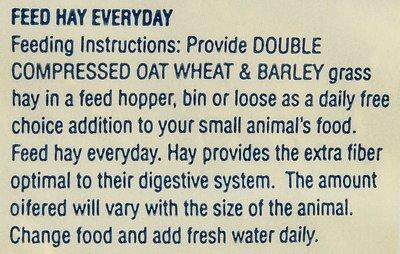 Alfalfa King Double Compressed Oat, Wheat & Barley Hay Small Animal Food