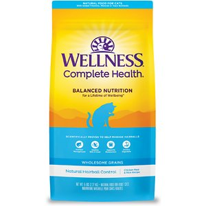 Wellness Natural Hairball Control Chicken Meal & Rice Recipe Dry Cat Food
