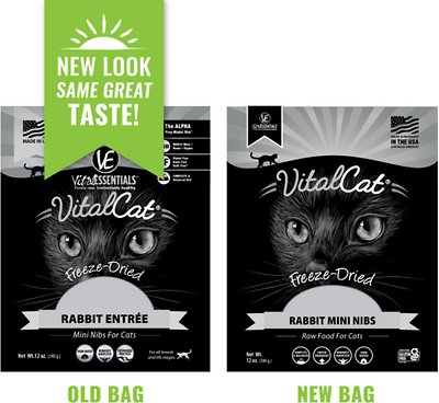 Vital Essentials Rabbit Mini Nibs Entree Freeze-Dried Cat Food