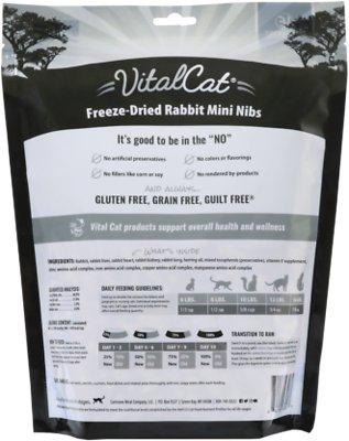 VITAL ESSENTIALS  Rabbit Mini Nibs Freeze-Dried Grain-Free Cat Food