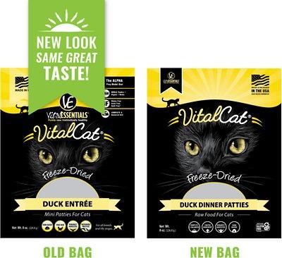 VITAL ESSENTIALS Duck Mini Patties Freeze-Dried Grain-Free Cat Food