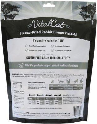 Vital Essentials Rabbit Mini Patties Grain Free Limited Ingredient Freeze-Dried Cat Food