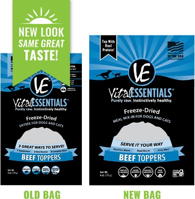 VITAL ESSENTIALS Beef Freeze-Dried Grain-Free Meal Boost Topper