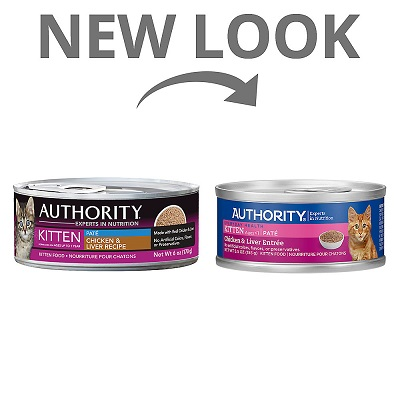 Authority Chicken & Liver Entrée Kitten Pate Canned Food